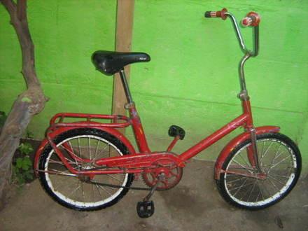 Su fiel Bicicleta que la acompaño en su traslado