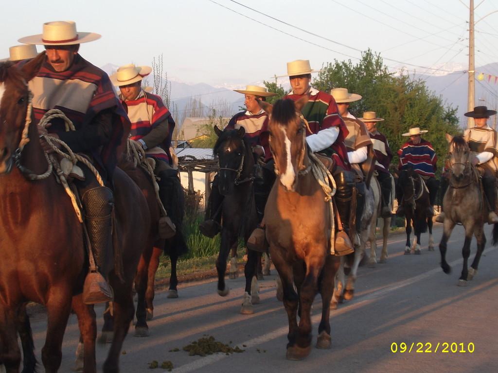 Huasos en Procesión Virgen de La Merced