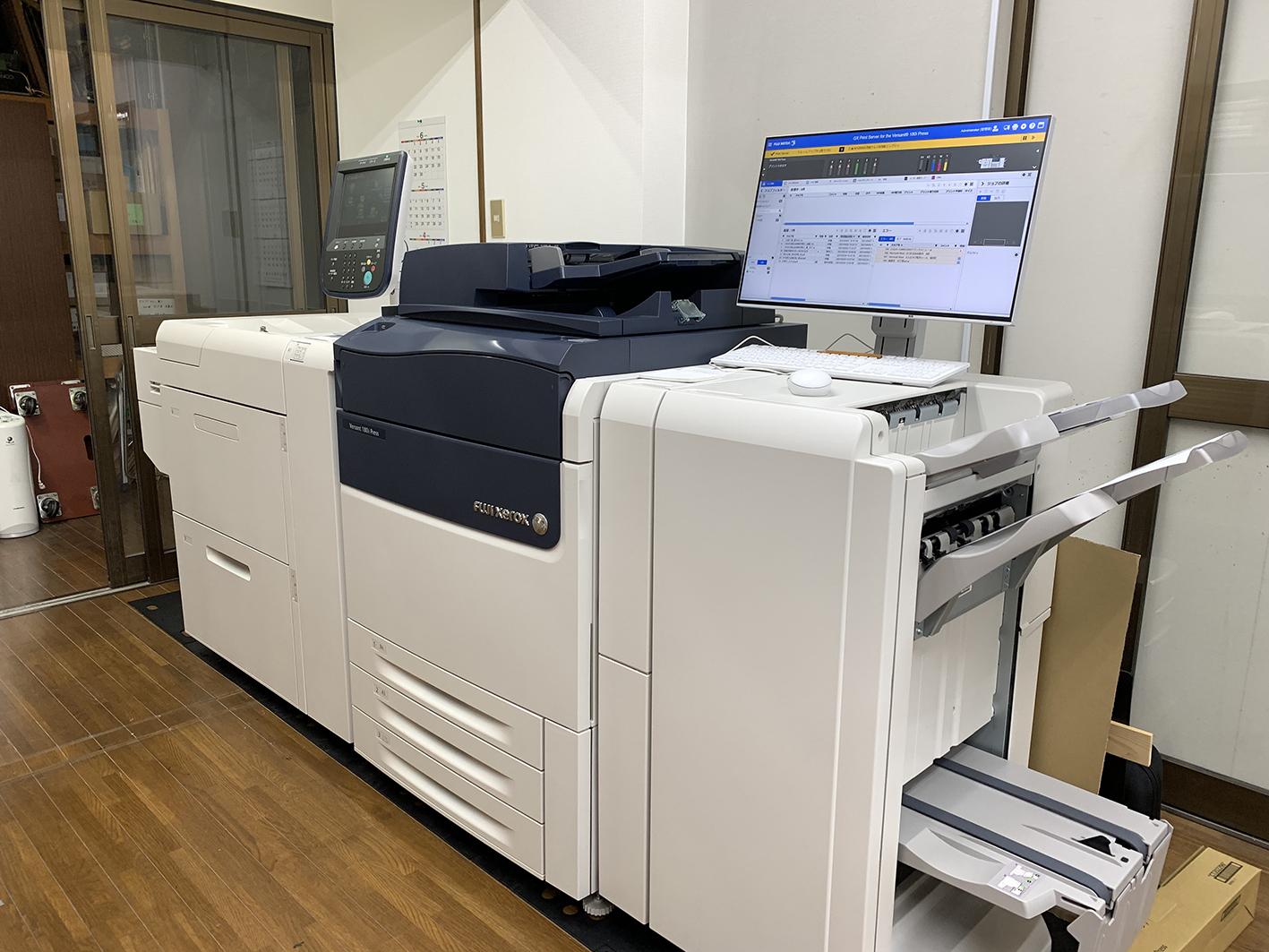 300×1300㎜の長尺にも対応。Xerox180i。