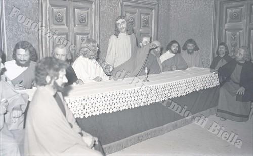 Gesù - Mario Pierozzi nell'Ultima Cena (Fondazione Cassa di Risparmio di Biella, archivio Lino Cremon)