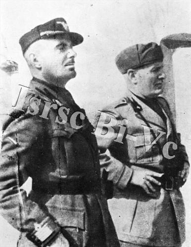 Merico Zuccari con Mussolini (Archivio fotografico dell'Istituto per la storia della Resistenza e della società contemporanea nel Biellese, nel Vercellese e in Valsesia, vol. E)