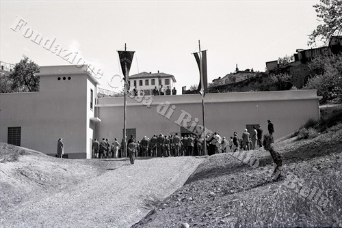 Il serbatoio dell'acqua potabile al Piazzo (Fondazione Cassa di Risparmio di Biella, archivio Lino Cremon)