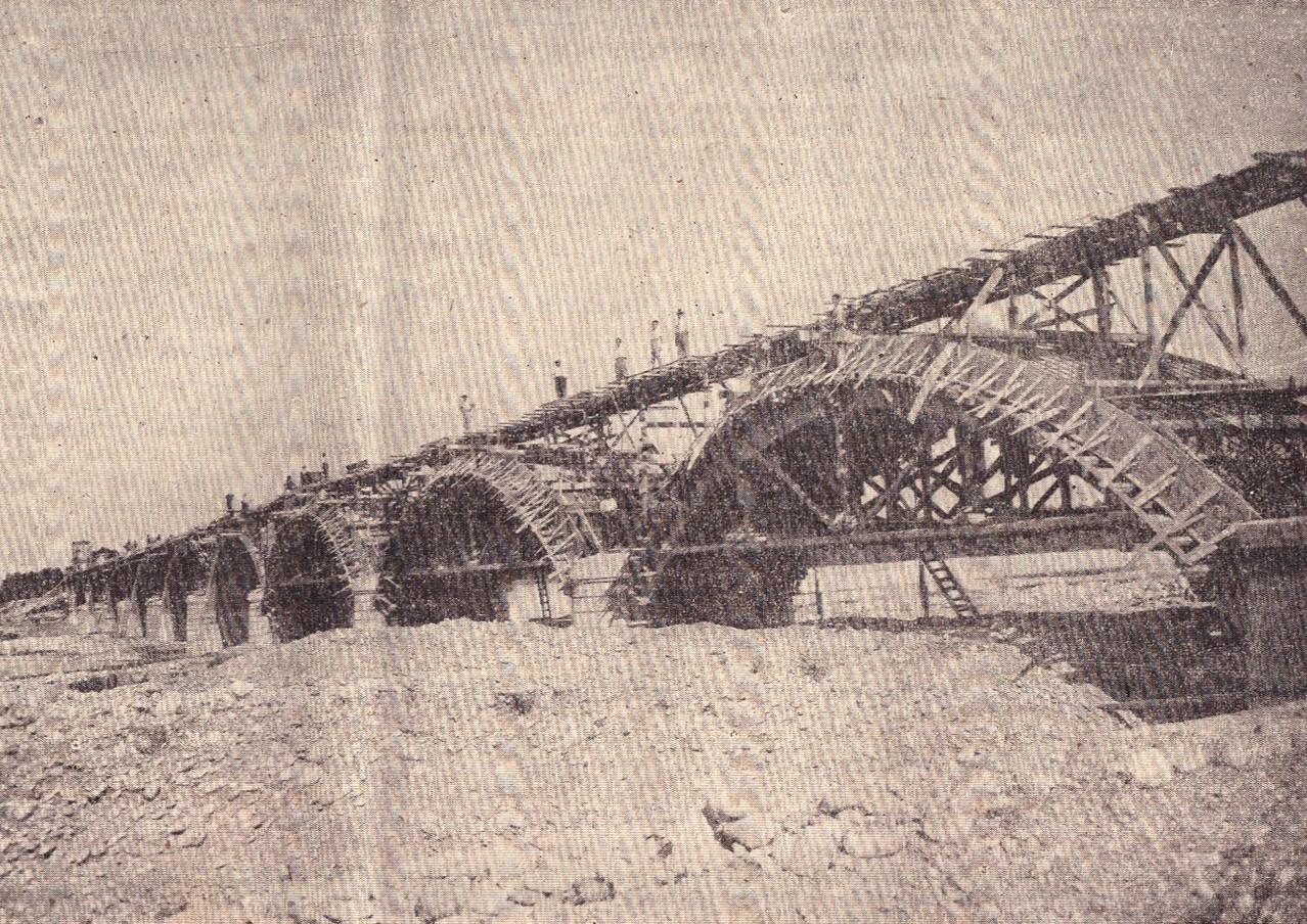 Ponte ferroviario in costruzione sulla linea Biella-Novara, 1931 (Il Popolo Biellese)