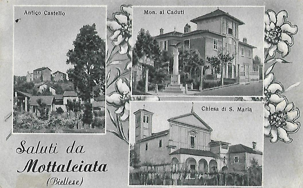 Cartolina ricordo di Mottalciata, anni Quaranta (Archivio privato Mottalciata)