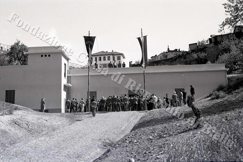 Il nuovo acquedotto di Biella, 1956 (Fondazione Cassa di Risparmio di Biella, archivio Lino Cremon)