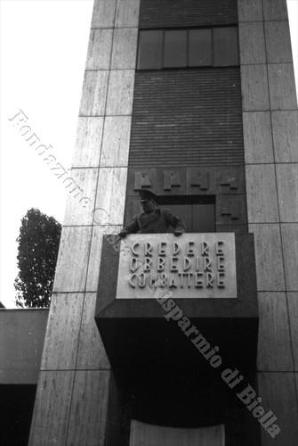 Mussolini inaugura la Torre Littoria, 18 maggio 1939 (Fondazione Cassa di Risparmio di Biella, archivio Cesare Valerio)