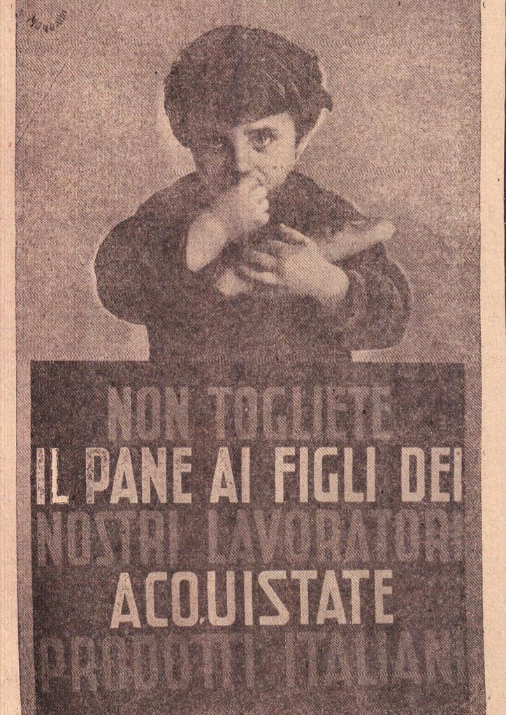 Manifesto per la difesa dei prodotti italiani (Il Popolo Biellese)