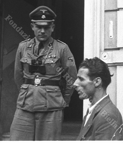 L'SS-Obersturmführer Johan Schuh, comandante del presidio Sipo-SD di Biella (Fondazione Cassa di Risparmio di Biella, archivio Cesare Valerio)