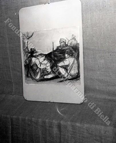 """""""Partigiani in montagna"""", opera di Giovanni Cappelli (Fondazione Cassa di Risparmio di Biella, archivio Lino Cremon)"""