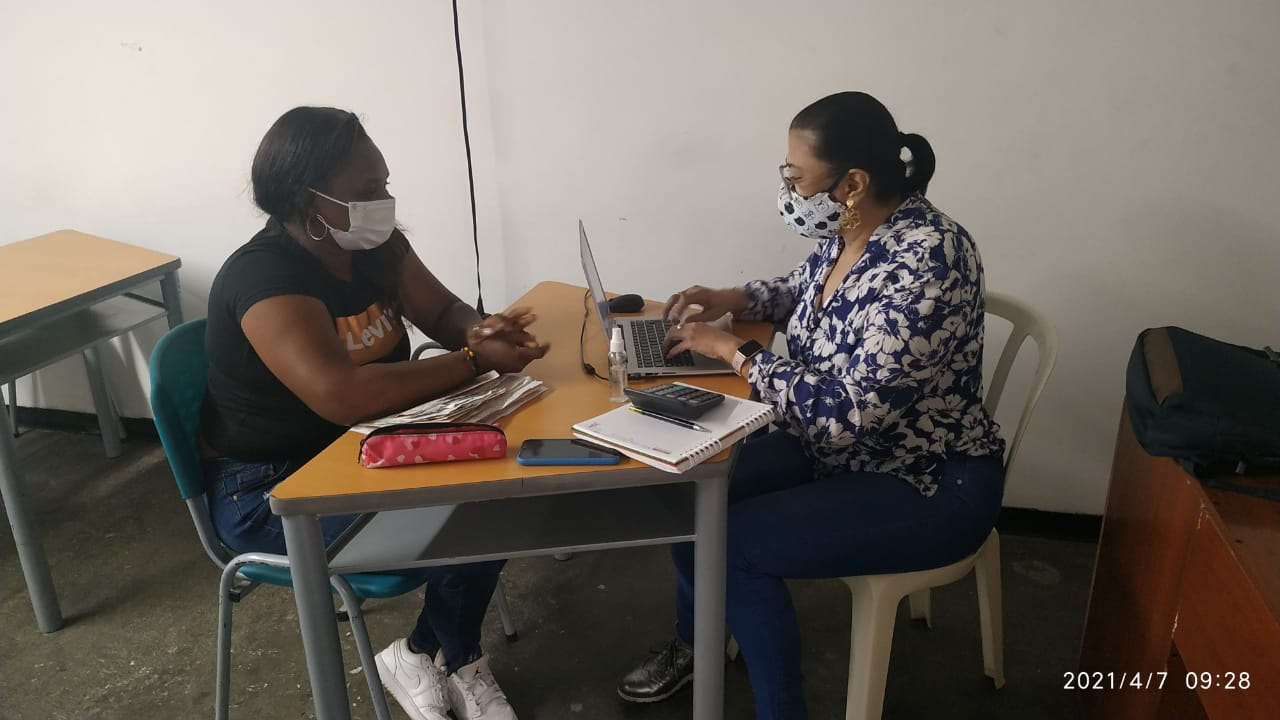 Beneficiarios del proyecto OIM en las instalaciones  del CDP