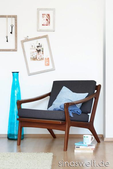 Das gewisse Etwas, Einrichtung, Wandgestaltung, Muster, Farben, kombinieren, Einrichtungstipps, Idee, Tipps, Möbel, Wohnzimmer, Beistellmöbel, Regale, do it yourself, Sessel, Bodenvase