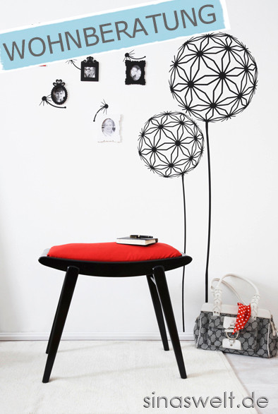 ideen f r sch ne w nde wandgestaltung tapete wandtattoo blog sina s welt kreativ. Black Bedroom Furniture Sets. Home Design Ideas