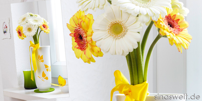 DIY U0026 Dekoidee: Vase Mit Schmetterlings Motiven