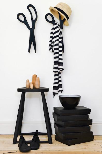 Garderobe, Flur, schwarz weiß, Wohntrend