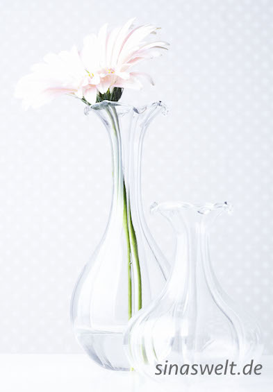Vase, Blumenvase, Tapete, kreativ, Wohnidee, diy, do it yourself, Glas