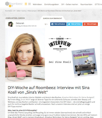 kreativ, sina koall, diy, do it yourself, roombeez, interview
