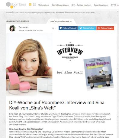 kreativ, sina koall, diy, do it yourself, roombeez, interview