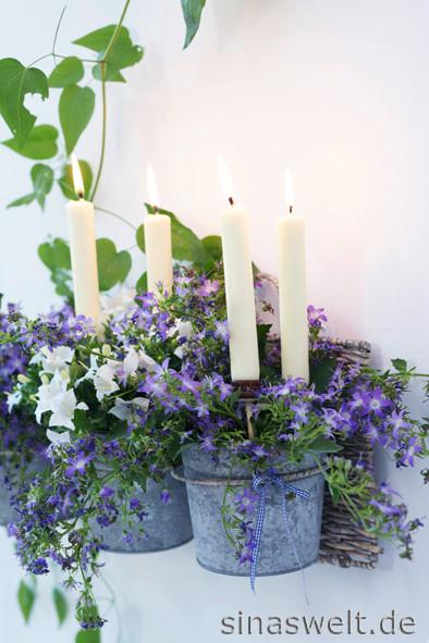 Wanddeko, Pflanzen, Bepflanzung, Kerzenidee, Gartendeko, Balkondeko