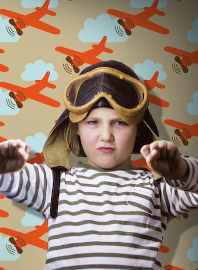 Wanddeko, Tapete, Kinder, Kinderzimmer, Flugzeuge, Abenteuer