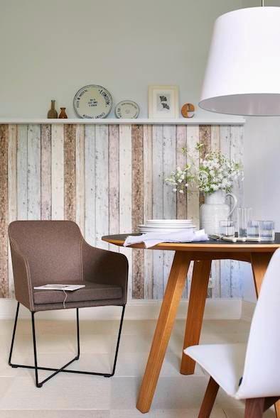Holzverkleidung, Esszimmer, Esstisch, Esstischstuhl