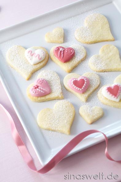 Kekse, Muttertag, Herz, Herzform, Dekoidee