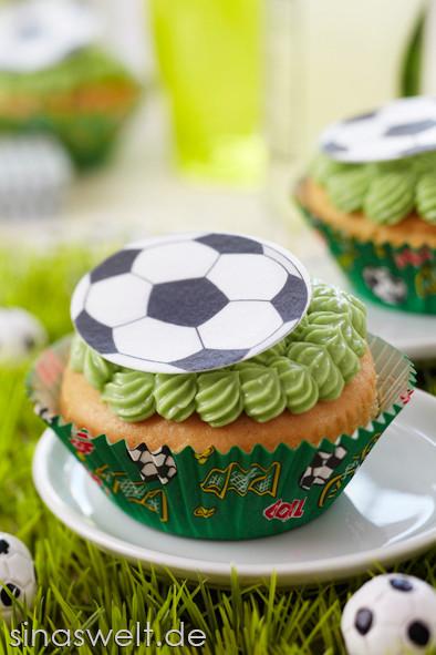 Fußball, WM, EM, Dekoideen, Tischdeko, Fußballabend, Feier, Party, Fußballparty, Tipps, Ideen, Muffin