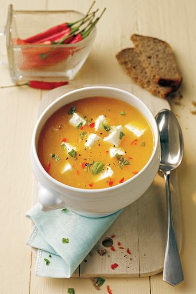 Suppe, Möhren, Aprikose