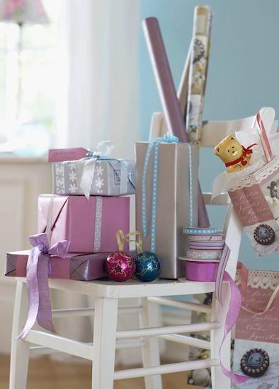 Weihnachten, Weihnachtsgeschenke, verpacken, planen