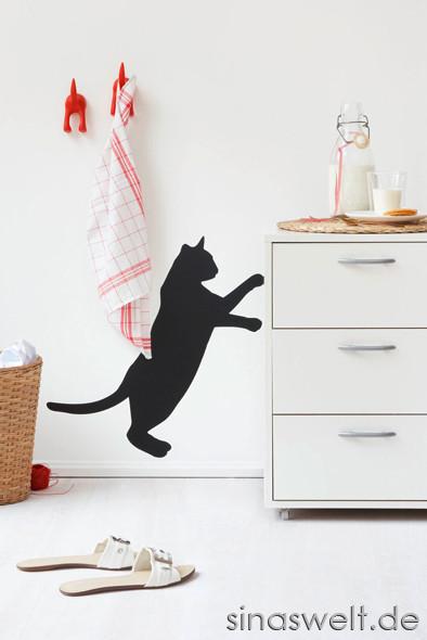 Wandtattoo, Katze, Küche, Küchenplanung, Dekoideen, Wohnidee, Wohnberatung