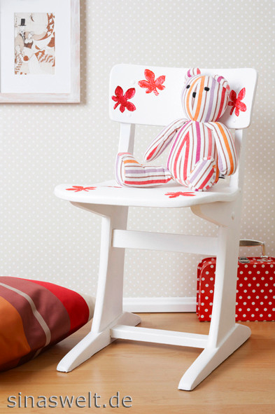 Ideen fürs Kinderzimmer mit Kartoffeldruck, Wohnideen, Kinder, dekorieren, kreativ mit Kindern, basteln mit Kindern