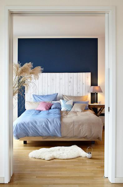Schlafzimmer, Bett, Wandgestaltung, Idee