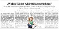 Bericht über Zauberina Referenz Zeitung