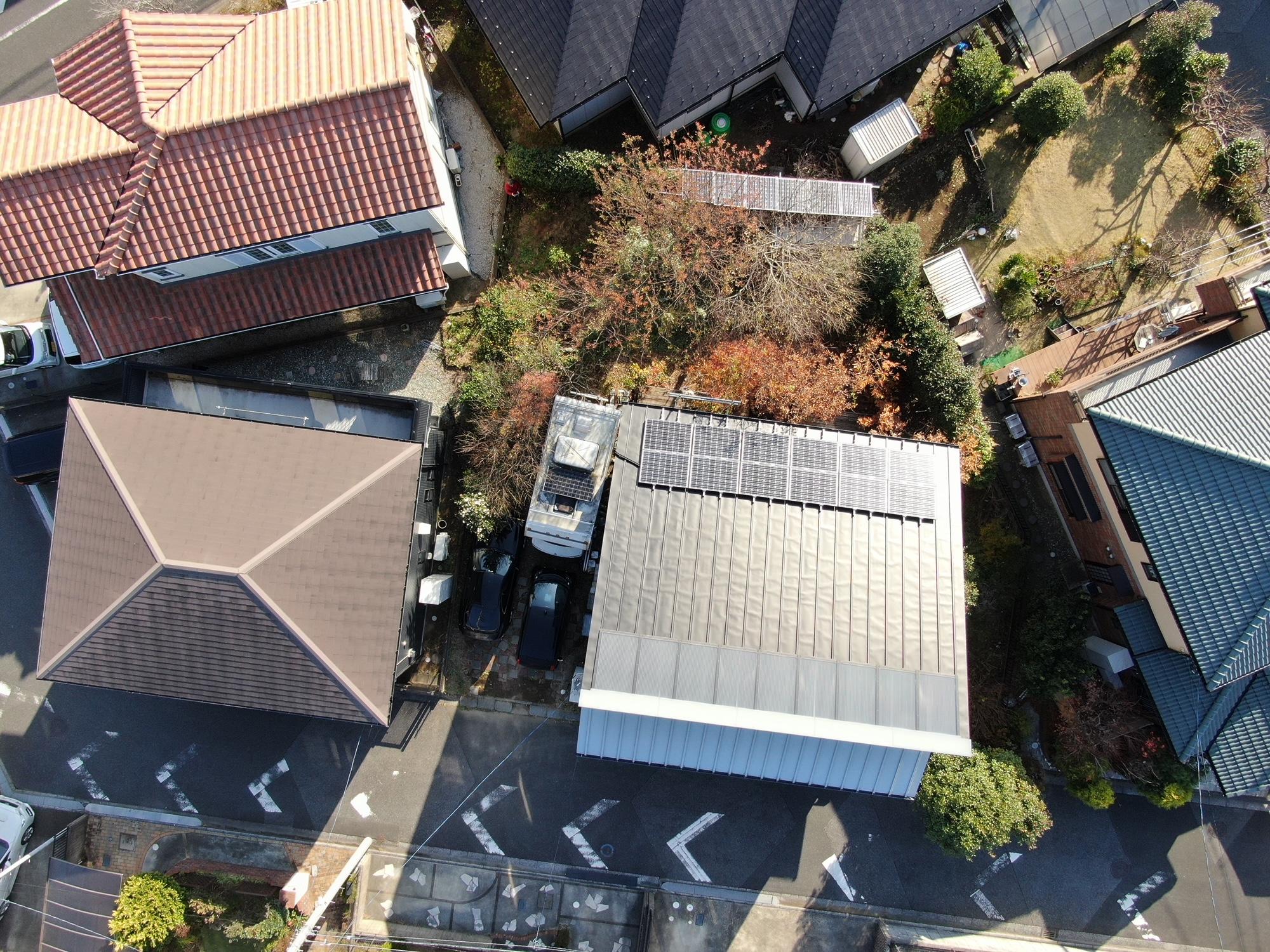 おゆみ野 中村自宅 オフグリット開始 OMソーラー+太陽光発電+雑木の庭