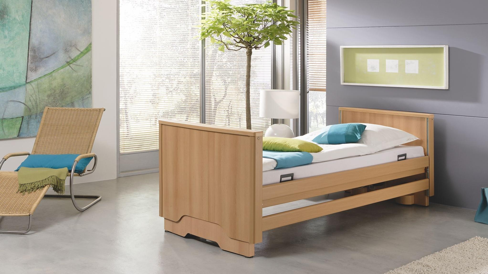Moderne Betten für die Pflege zuhause