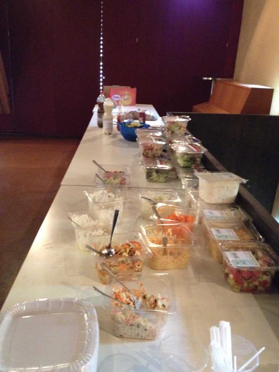Das von der Firma Gastro Star gesponsorte Salatbuffet