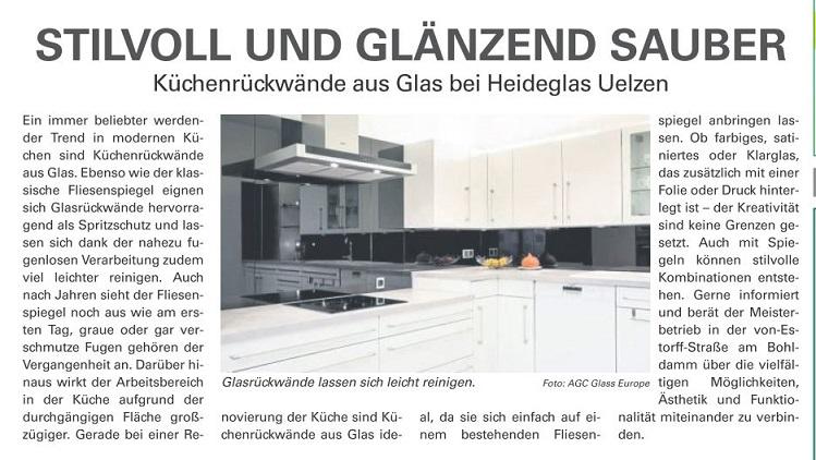 Küchenrückwände aus Glas