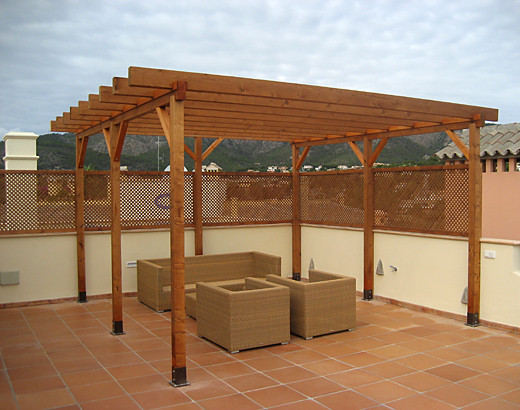 pergola createam design tischlerei auf mallorca. Black Bedroom Furniture Sets. Home Design Ideas