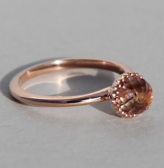 ring-zart-rauchquarz -kugel-6 mm-silber- rose-vergoldet-925-sterling