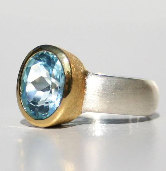 ring-sterling-silber-925-blautopas-beh.-auch in citrin-amethyst- vergoldet-10x8 mm