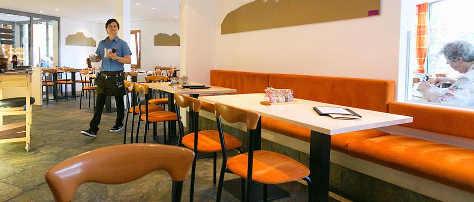 Willkommen im Grond Café Sils Maria