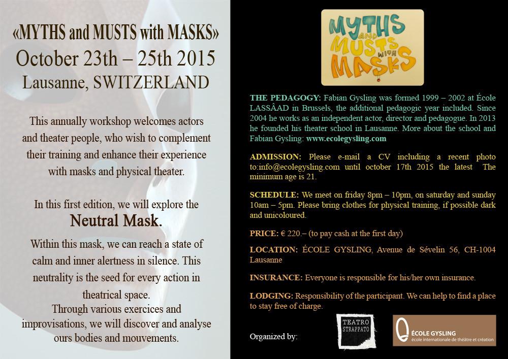 Neutrale Maske, masque neutre, Sartori, Ecole Gysling