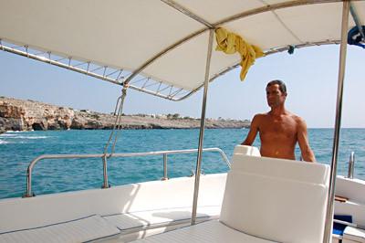 ... unser italienischer Skipper