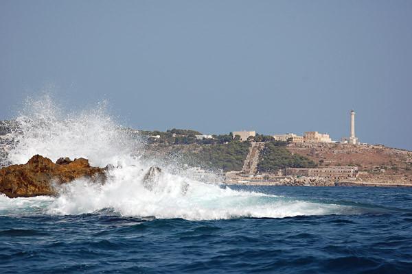 ... wir umrunden den geografischen Endpunkt Apuliens