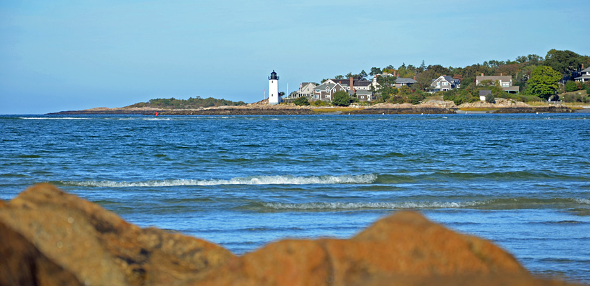 Blick zum Annisquam Lighthouse