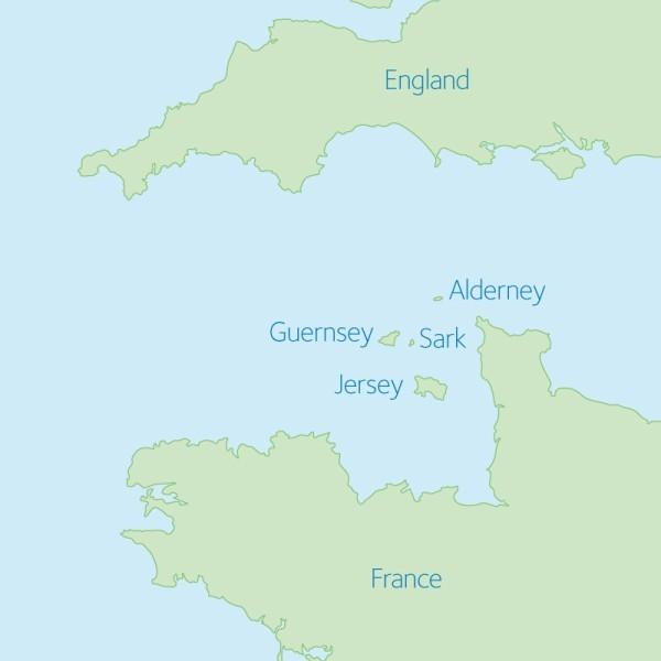 Jersey im Ärmelkanal