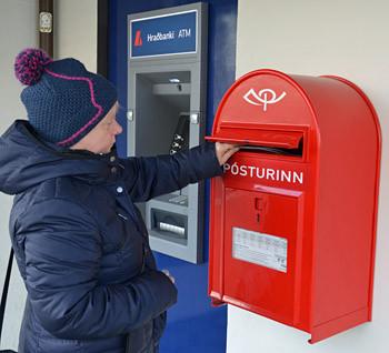 Postkarten nach good, old Germany gehen auf die Reise