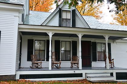 Das Wohnhaus der Familie Coolidge