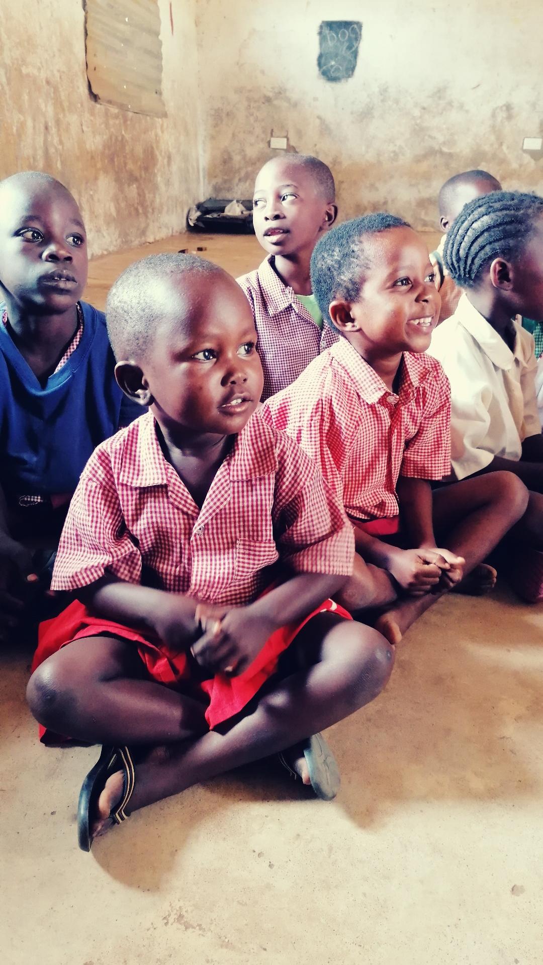 ...sind die Kinder welche zur Schule dürfen....