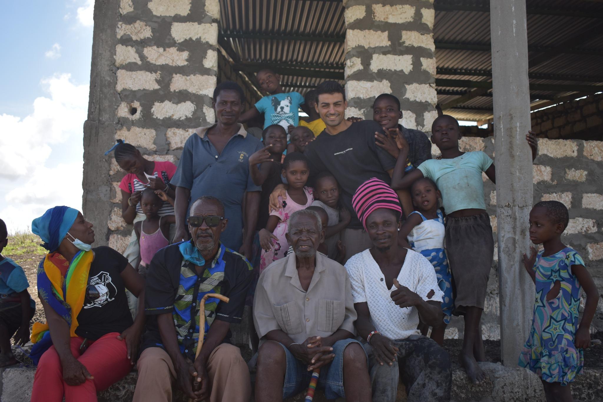 Celebrating with locals