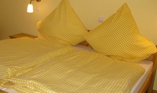 bezogene Betten